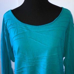 Tops - Geneology Turquoise Dolman Sleeve Top - SZ L